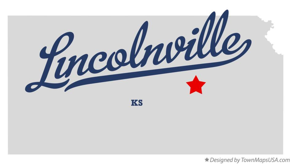 Map of Lincolnville Kansas KS