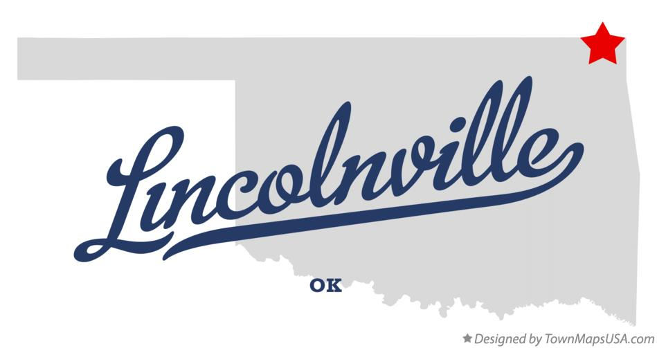 Map of Lincolnville Oklahoma OK