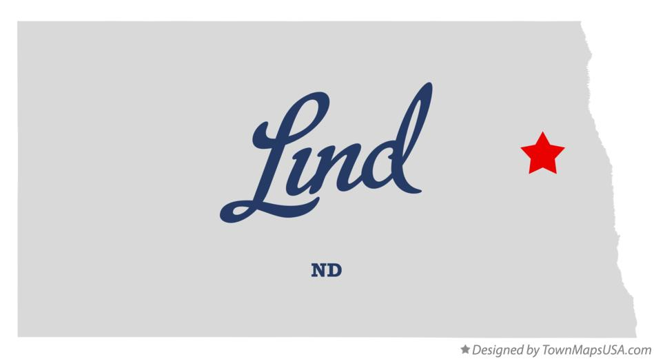 Map of Lind North Dakota ND