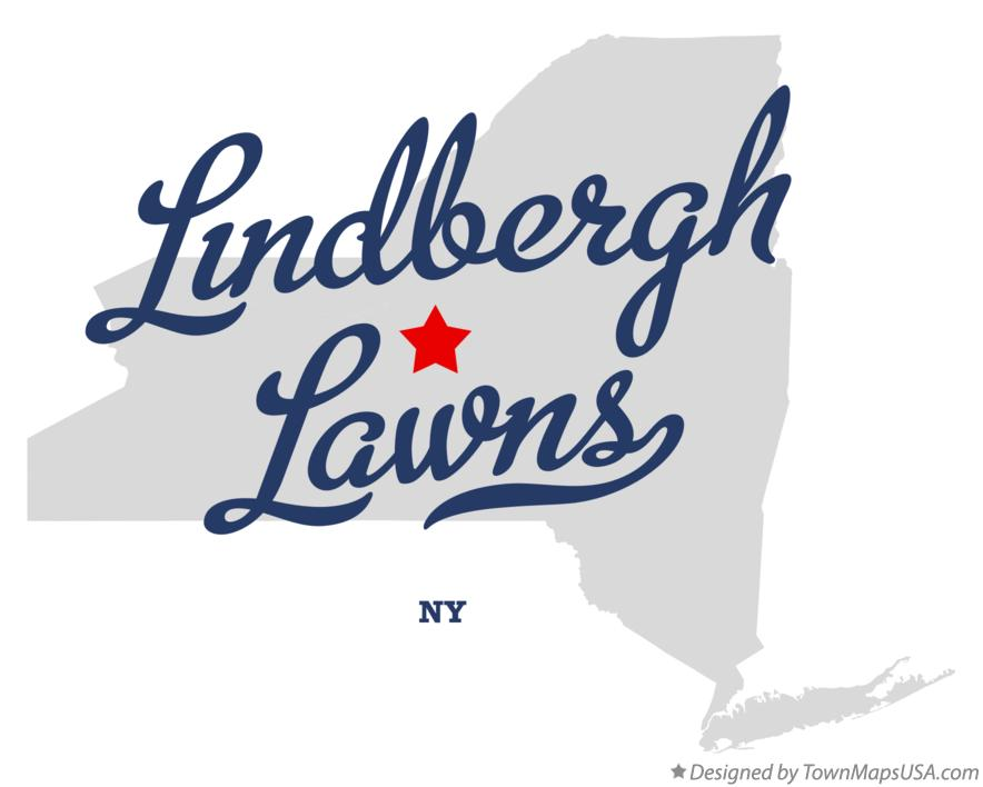 Map of Lindbergh Lawns New York NY