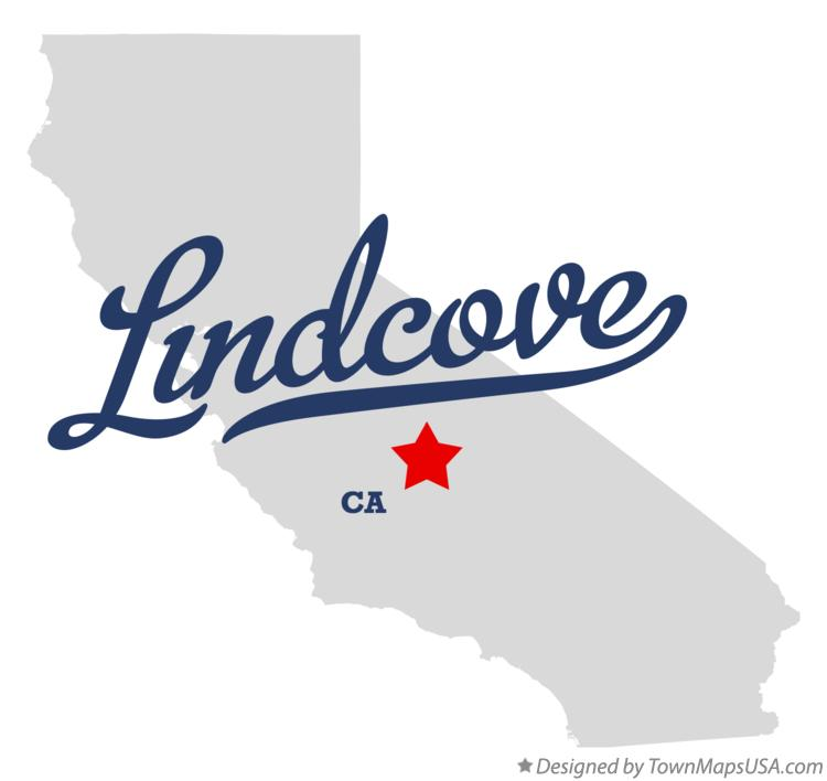 Map of Lindcove California CA