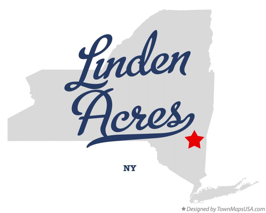 Map of Linden Acres New York NY