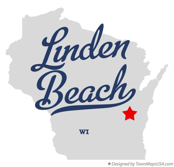 Map of Linden Beach Wisconsin WI