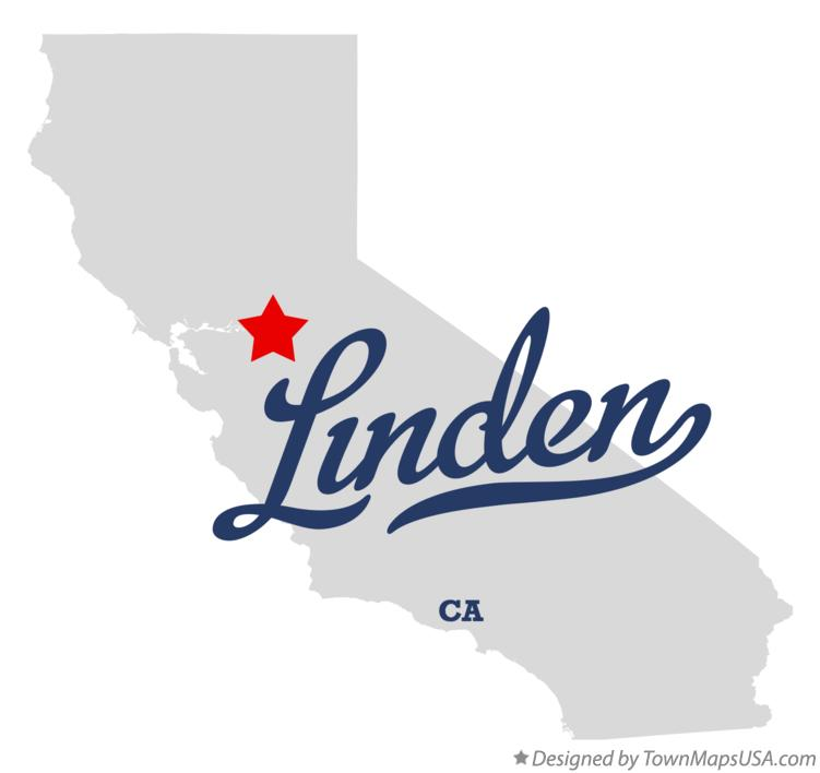 Map of Linden California CA