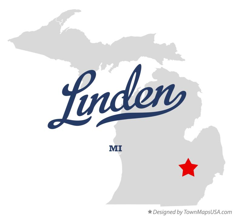 Map of Linden Michigan MI
