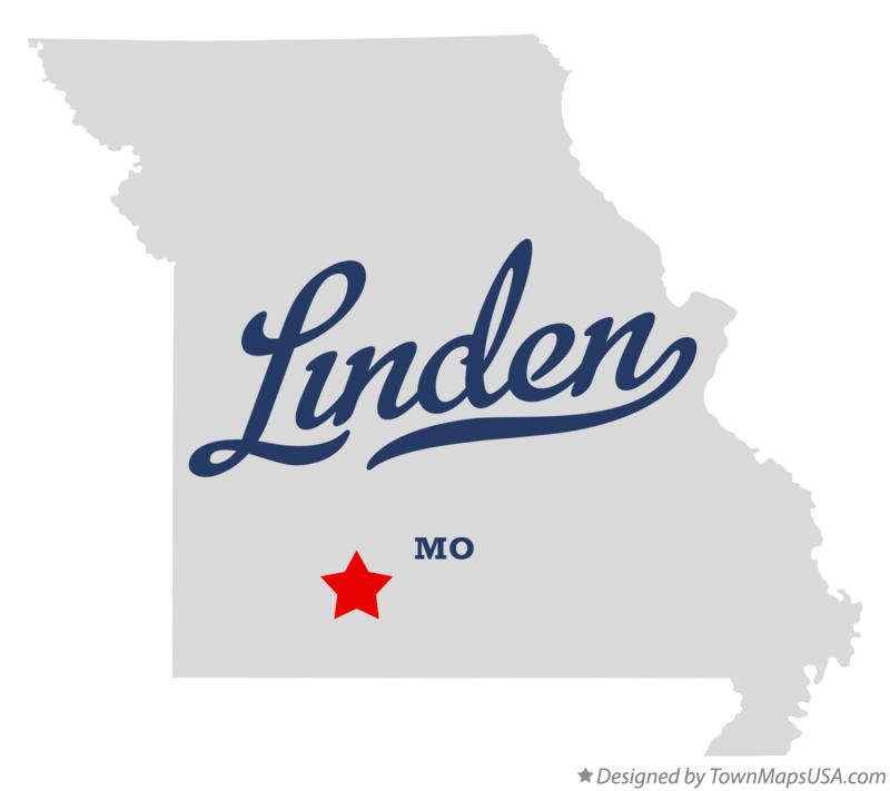 Map of Linden Missouri MO