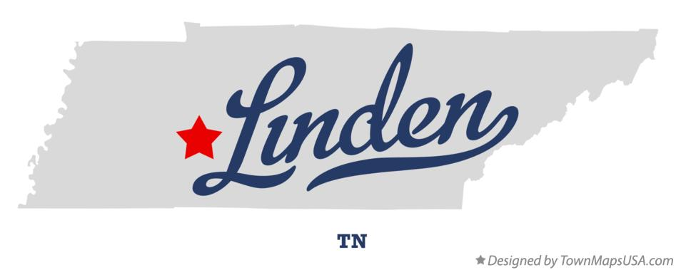 Map of Linden Tennessee TN