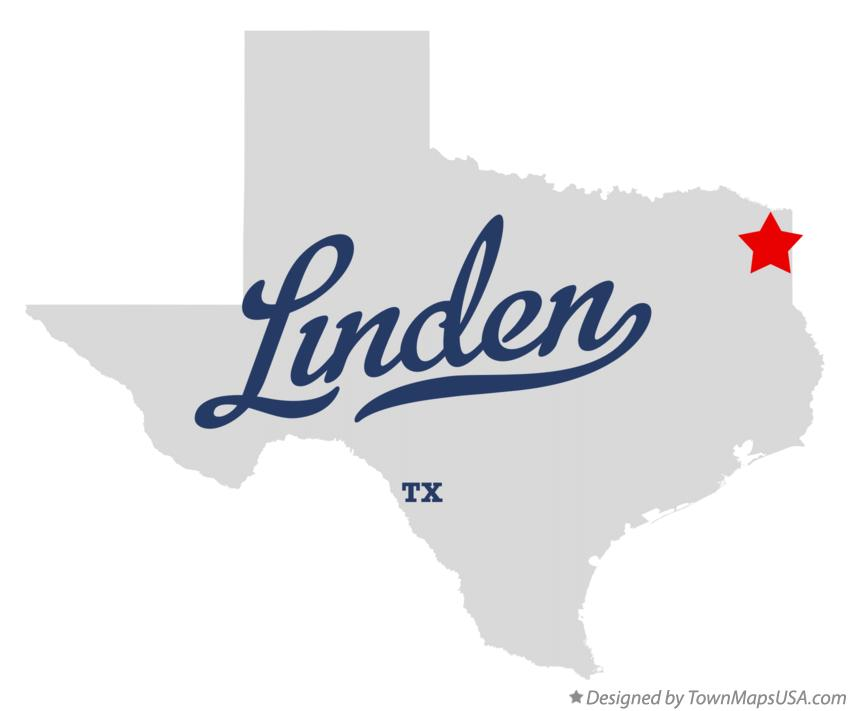 Map of Linden Texas TX