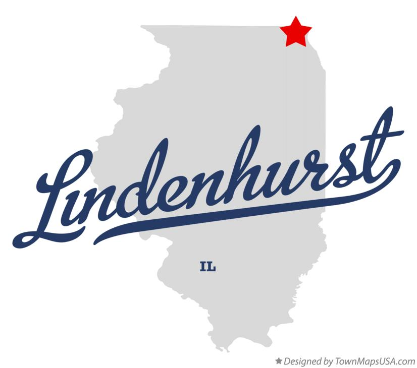 Map of Lindenhurst Illinois IL