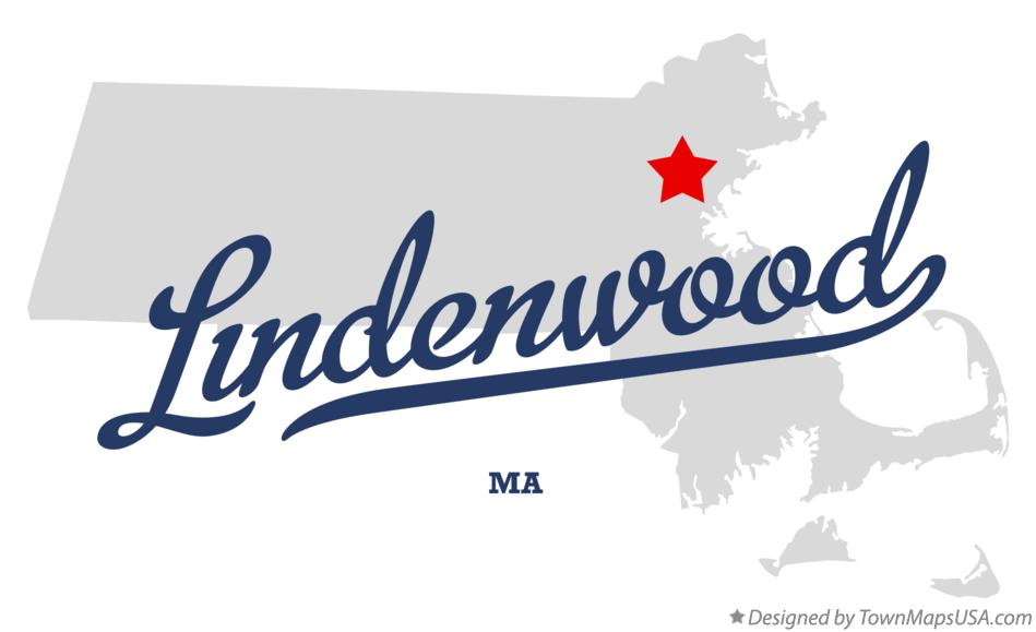 Map of Lindenwood Massachusetts MA