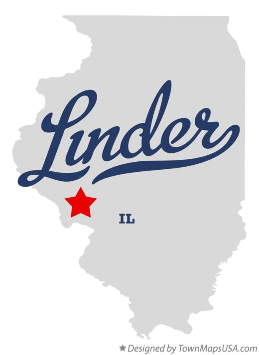 Map of Linder Illinois IL