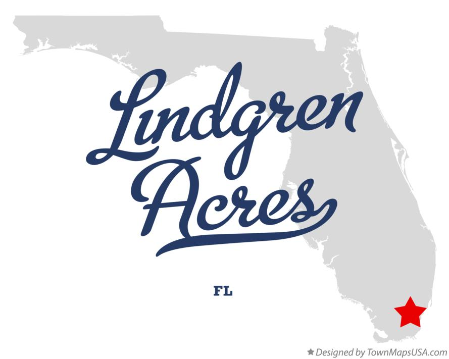 Map of Lindgren Acres Florida FL