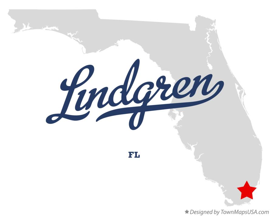 Map of Lindgren Florida FL