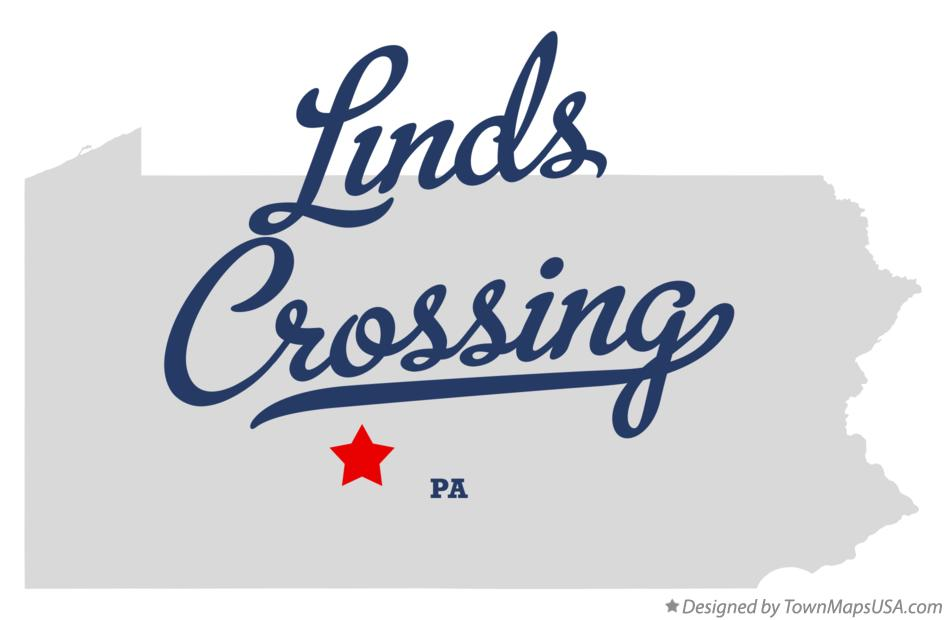 Map of Linds Crossing Pennsylvania PA