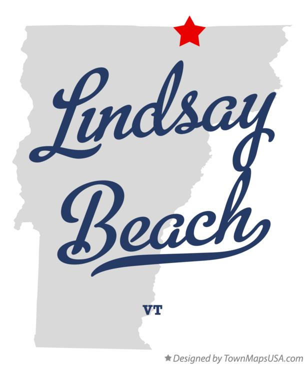 Map of Lindsay Beach Vermont VT