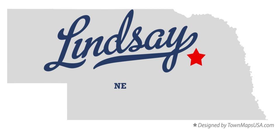 Map of Lindsay Nebraska NE