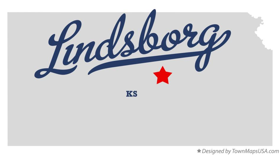 Map of Lindsborg Kansas KS
