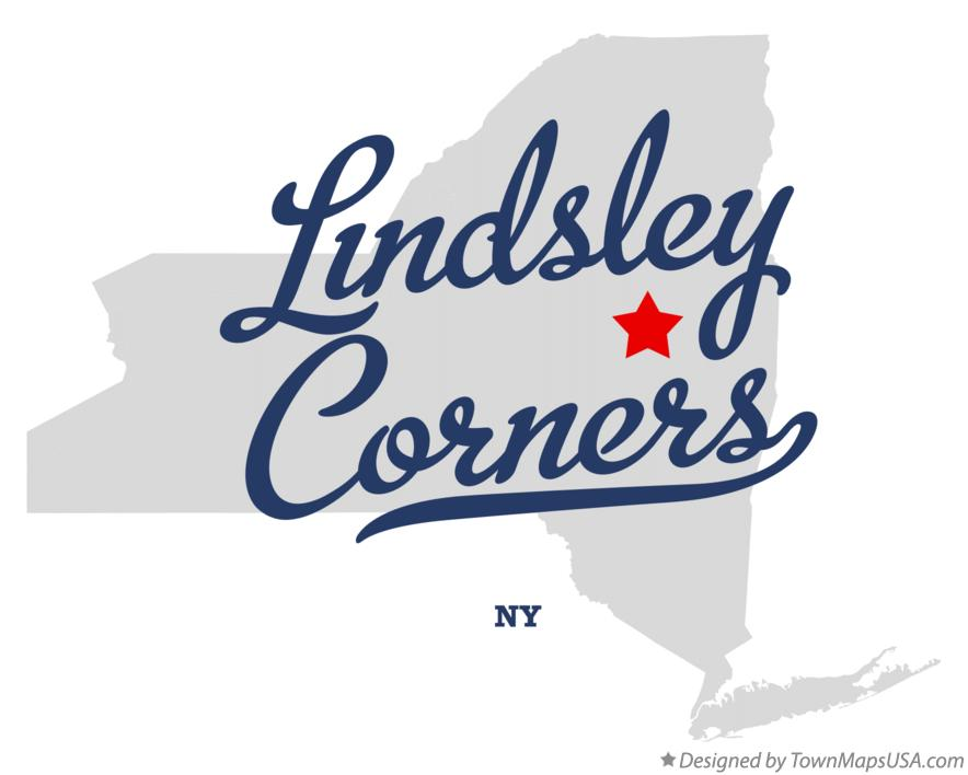 Map of Lindsley Corners New York NY