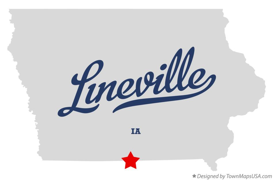 Map of Lineville Iowa IA