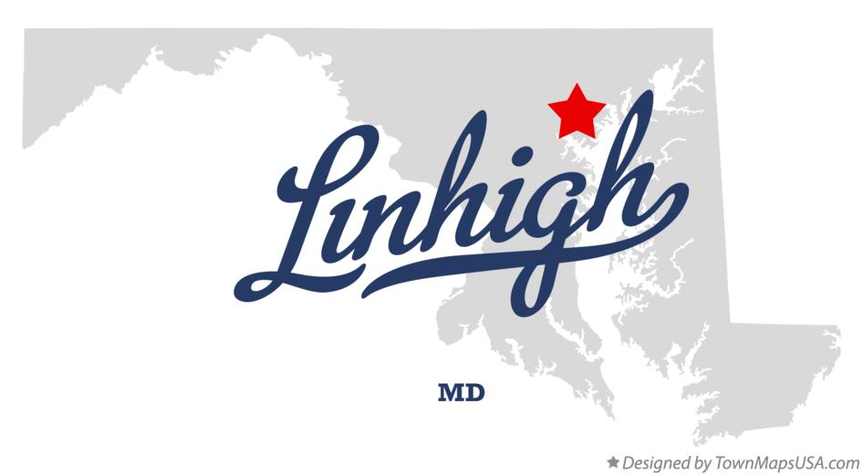 Map of Linhigh Maryland MD