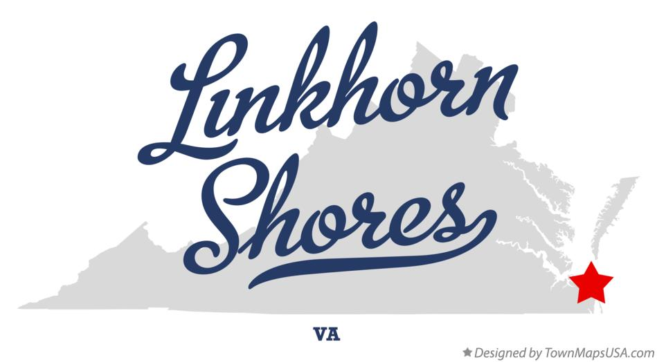 Map of Linkhorn Shores Virginia VA