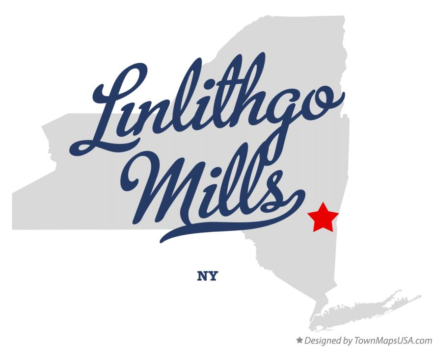 Map of Linlithgo Mills New York NY