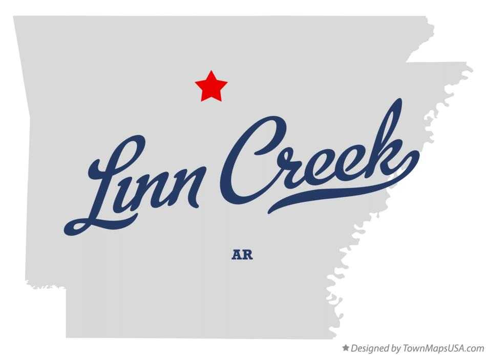 Map of Linn Creek Arkansas AR