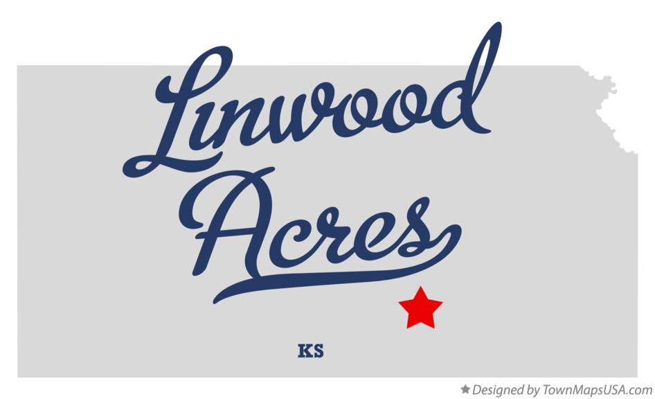Map of Linwood Acres Kansas KS