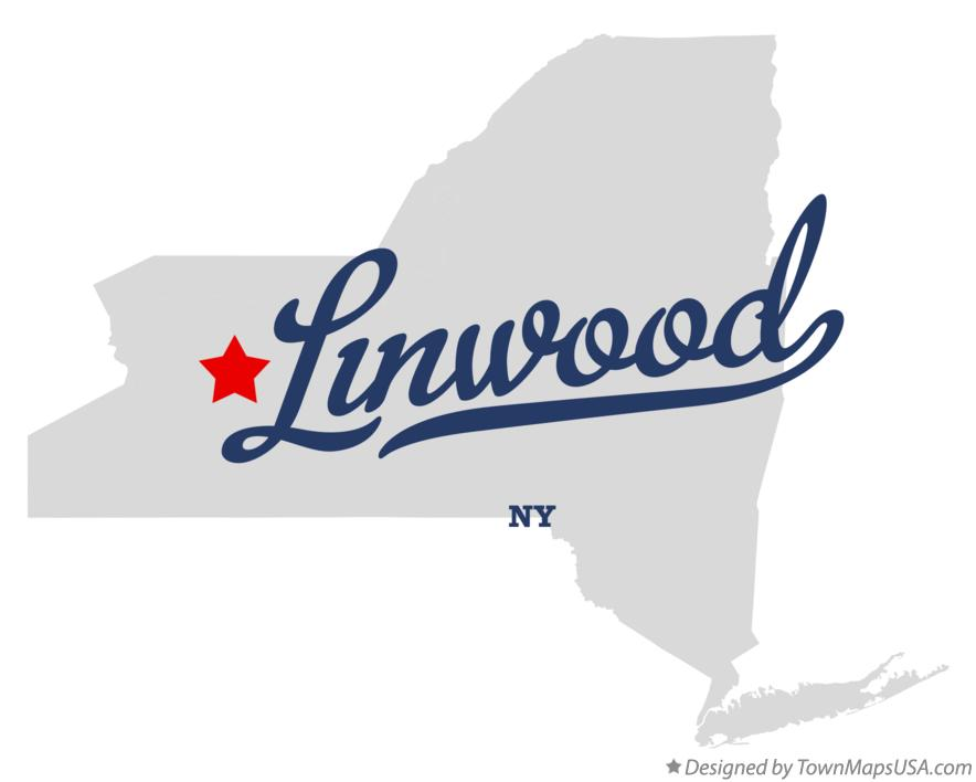 Map of Linwood New York NY