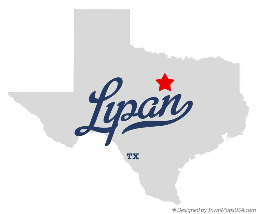 Map of Lipan Texas TX