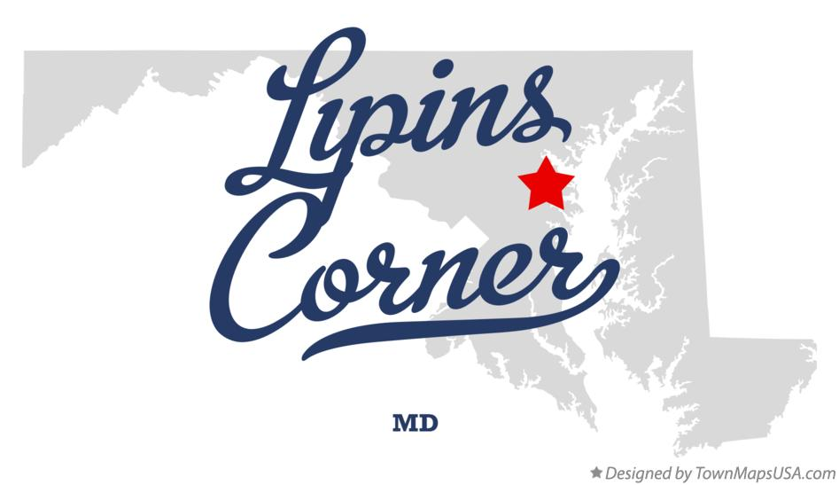 Map of Lipins Corner Maryland MD