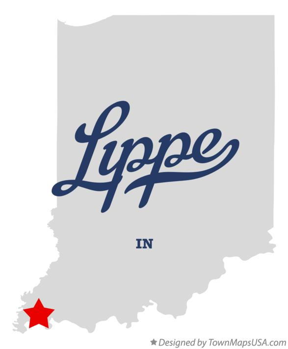 Map of Lippe Indiana IN
