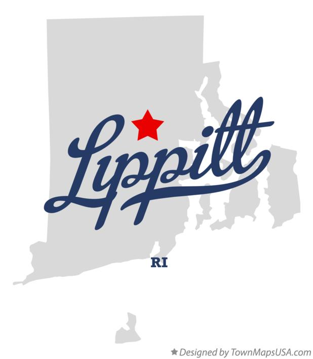 Map of Lippitt Rhode Island RI