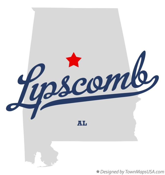 Map of Lipscomb Alabama AL
