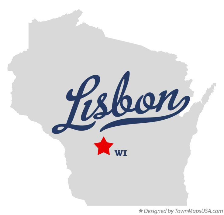 Map of Lisbon Wisconsin WI