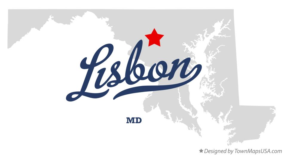 Map of Lisbon Maryland MD