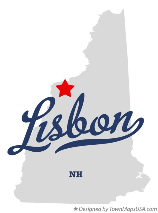 Map of Lisbon New Hampshire NH