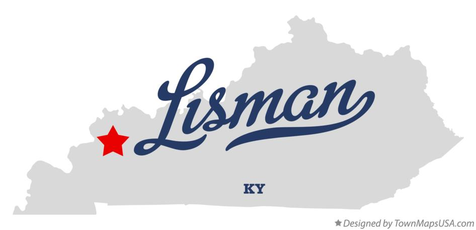 Map of Lisman Kentucky KY