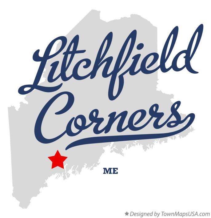 Litchfield Maine Map.Map Of Litchfield Corners Me Maine