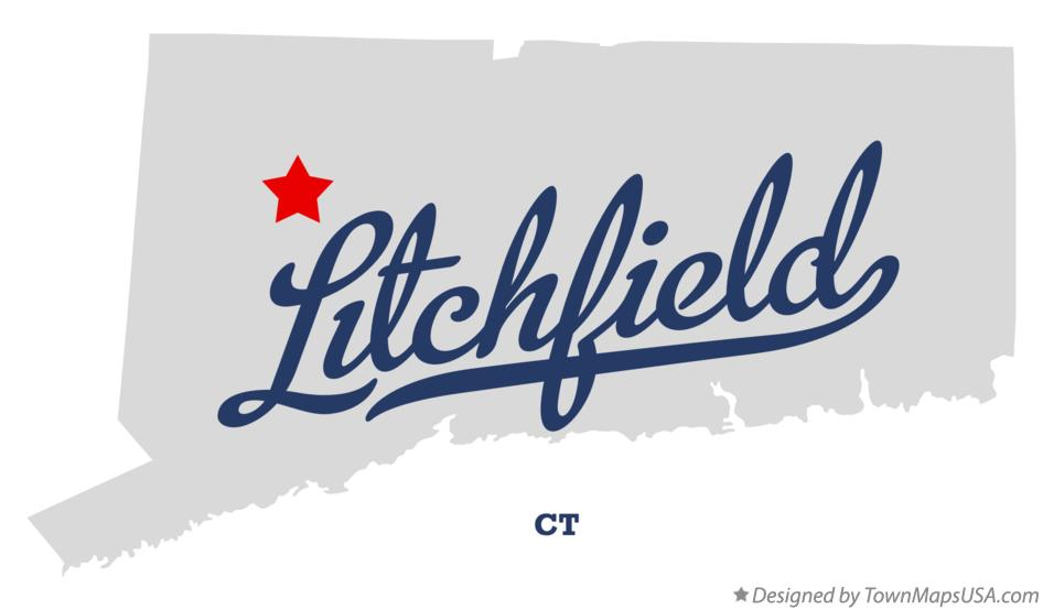 Map of Litchfield Connecticut CT