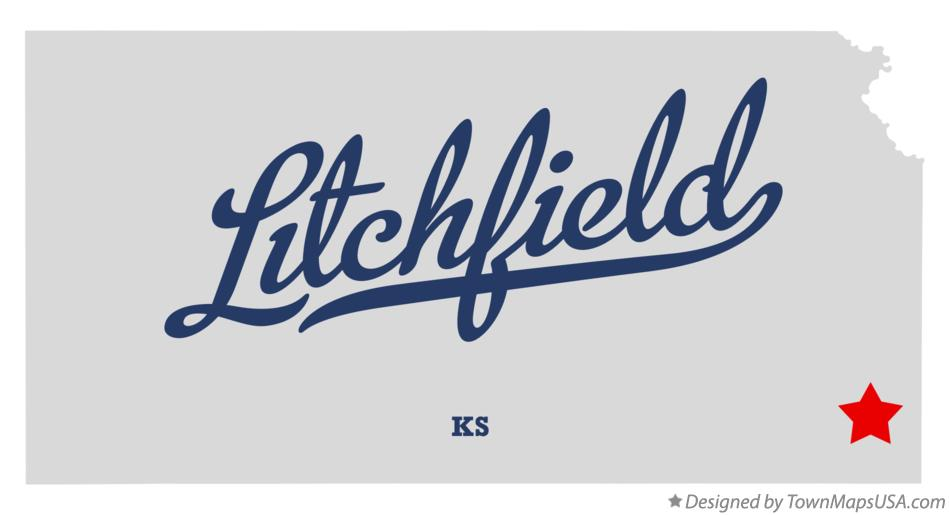 Map of Litchfield Kansas KS