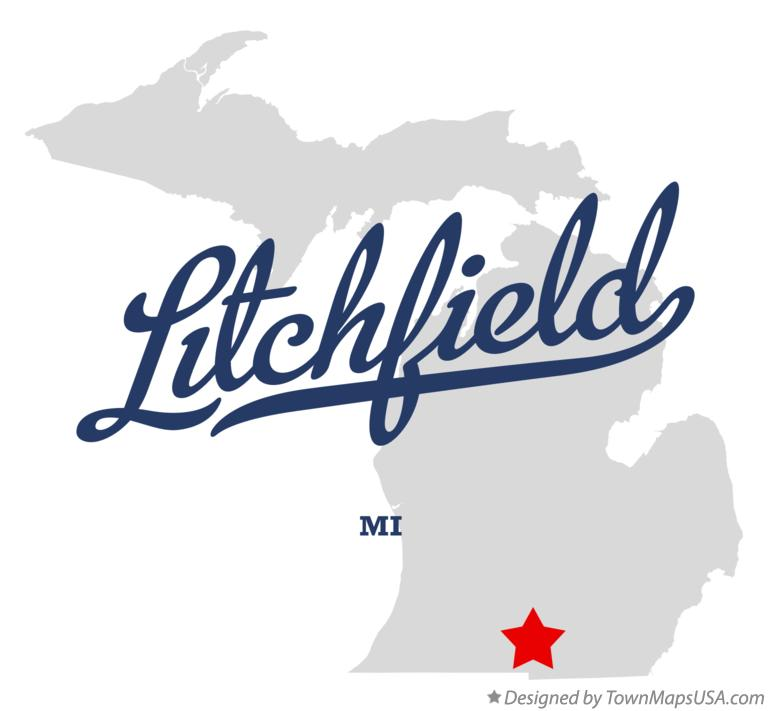 Map of Litchfield Michigan MI