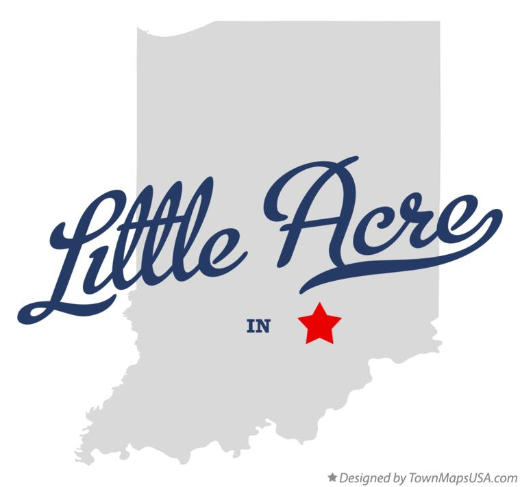 Map of Little Acre Indiana IN