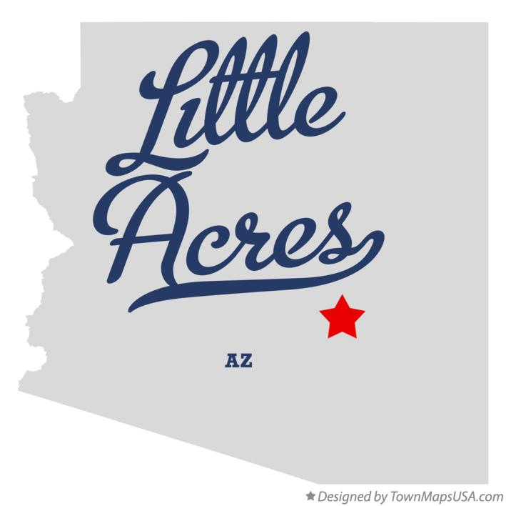 Map of Little Acres Arizona AZ