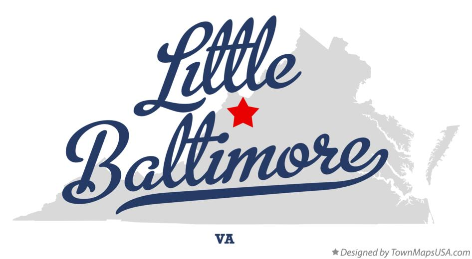 Map of Little Baltimore Virginia VA