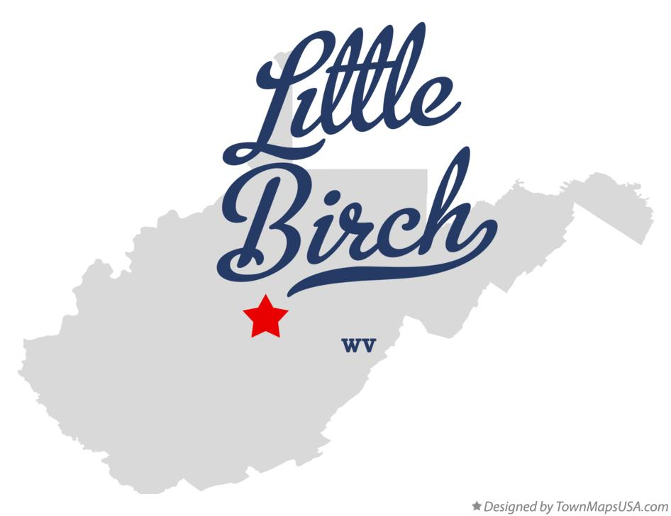 Map of Little Birch West Virginia WV