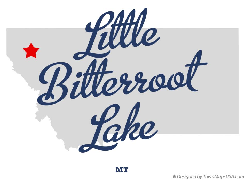 Map of Little Bitterroot Lake Montana MT