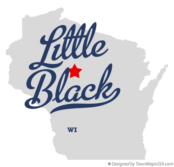 Map of Little Black Wisconsin WI