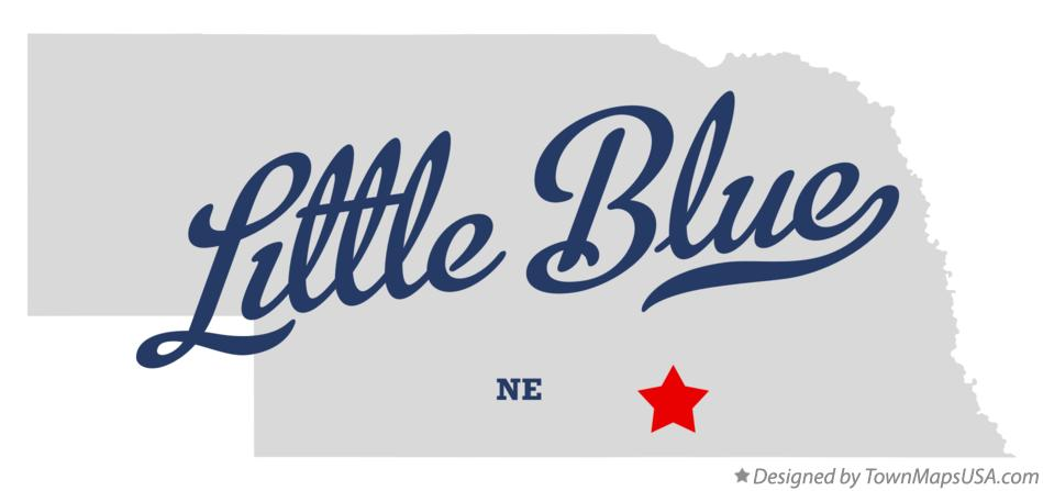 Map of Little Blue Nebraska NE