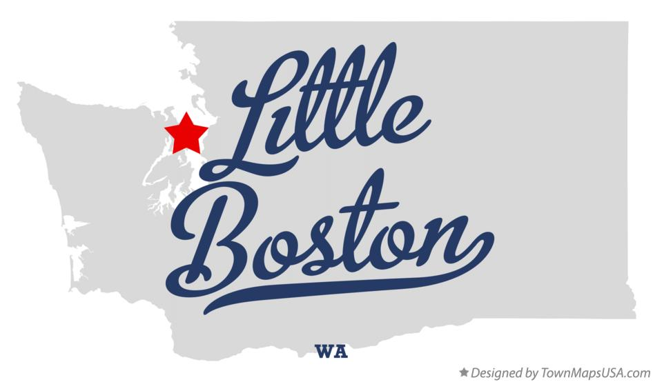 Map of Little Boston Washington WA